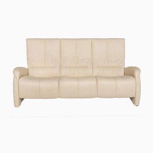 Cream Leather 3-Seat Sofa from Himolla