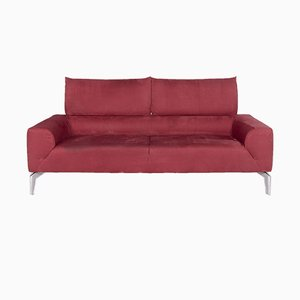 Zwei-Sitzer Sofa mit Roséfarbenem Bezug von Laauser