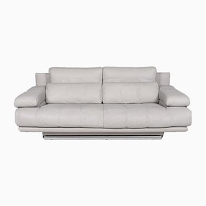6500 Grey Leather 2-Seat Sofa by Kein Designer for Rolf Benz