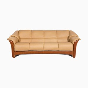 Beige Leather 4-Seat Sofa from Stressless
