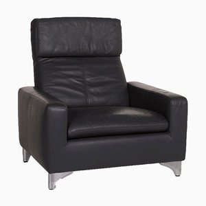 Grey Leather Armchair from Willi Schillig