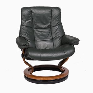 Green Leather Armchair with Relax Function from Stressless
