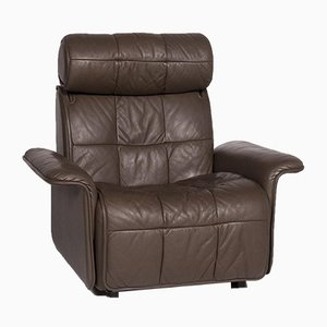 Brown Leather Electric Relax Function Armchair from de Sede
