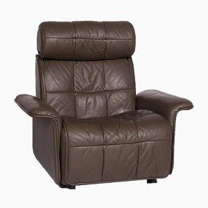 Poltrona da relax in pelle marrone di De Sede