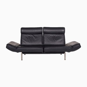 DS 450 Dark Blue Leather 2-Seat Sofa with Relax Function by Thomas Althaus for de Sede