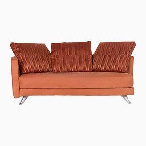 Canapé Trois Places en Terracotta Orange Fabric de Rolf Benz