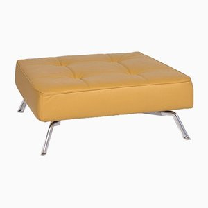 Smala Yellow Leather Stool by Pascal Mourge for Ligne Roset