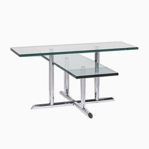 Glass and Silver Coffee Table from Rolf Benz