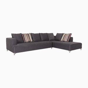 Opium Anthracite Grey Fabric Corner Sofa by Didier Gomez for Ligne Roset