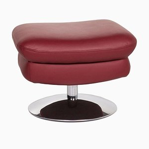 Brown Leather Stool from Koinor