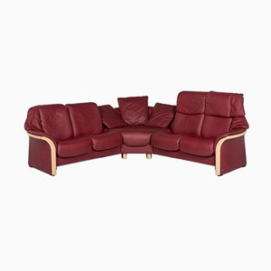Eldorado Red Leather Corner Sofa with Relax Function by Kein Designer for Stressless