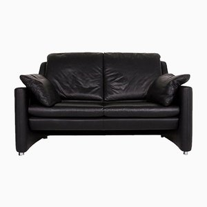 Fidamigo Black Leather 2-Seat Sofa from Leolux