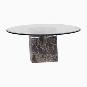 Glass, Stone & Granite Round Coffee Table from Christine Kröncke
