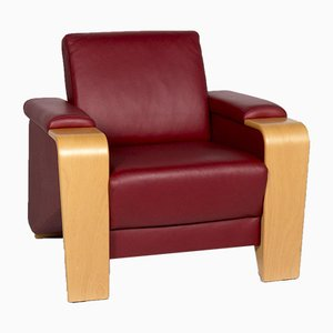 Pegasus Red Leather Armchair with Function from Stressless