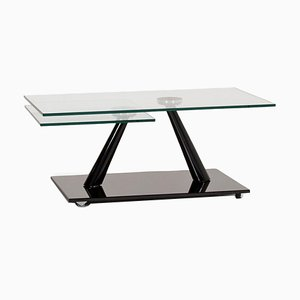 Black and Glass Extendable Coffee Table from Naos
