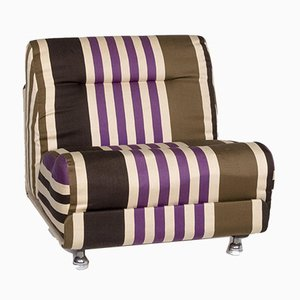 Multicolor & Striped Beige Fabric Armchair from Cor