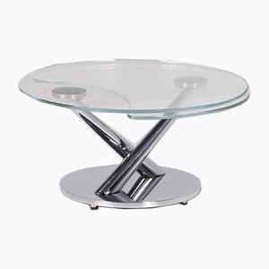 Glass Round Movable Coffee Table from Naos