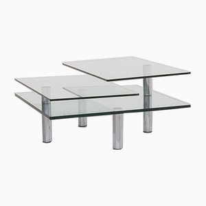 Silver and Glass Coffee Table by Peter Draenert for Draenert