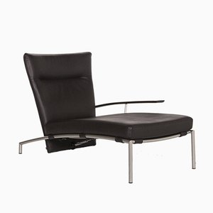 Accuba Brown Leather Lounger with Relax Function by Peter Maly for Cor