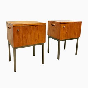 Dutch Minimalist Nightstands, 1960s, Set of 2