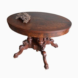 Antique Oval Walnut Table