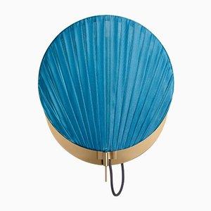 Guinea Wandlampe #1 in glänzendem Blau von Servomuto