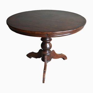 Antique Round Mahogany Wine Table