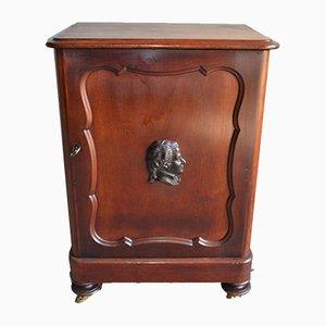 Antique Biedermeier Mahogany Mozart Cabinet