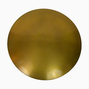 Mid-Century Modern Large Brass Flush Mount Ceiling or Wall Light by Florian Schulz