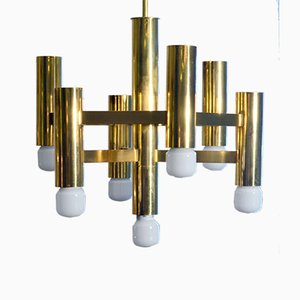 Brass Pendant Lamp from Sciolari, 1970s