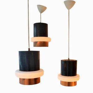 Modernist Pendant Lamps from Raak, 1960s, Set of 3
