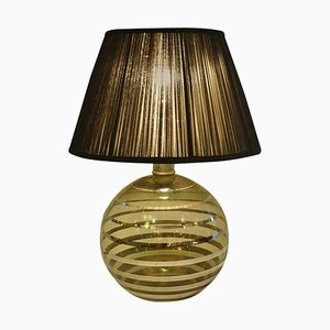 Art Deco Glass Spherical Table Lamp