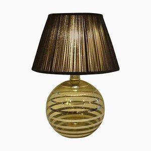 Lampada da tavolo Art Deco sferica in vetro