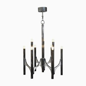 Chrome Chandelier from Sciolari, 1950s