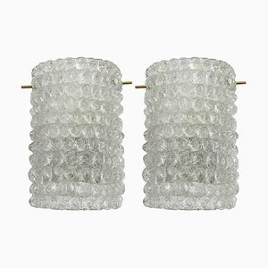 Glass Wall Lamps Attributed to Barovier & Toso, 1950s, Set of 2