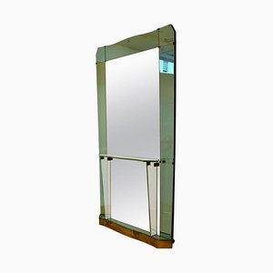 Large Console Mirror Attributed to Crystal Arte, Italy, 1950s