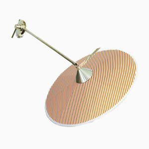 Portofino Wall Lamp #4 in Orange stripes by Servomuto
