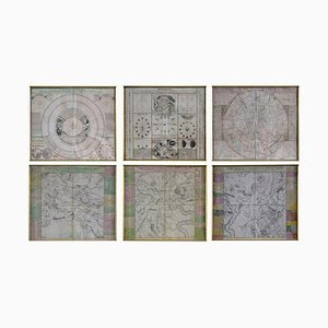 18th Century Celestial Charts Engravings by Doppelmayr, Set of 6