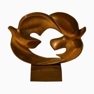 Toves Skulpturen aus gegossener Bronze von Coutelle, Frankreich, 1920er, 2er Set