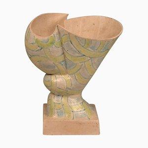 Skulpturales Handform Gefäß von W.Schalling, Niederlande, 1930er