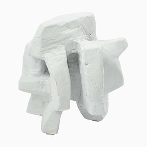 Chalk White Abstract Sculpture 2 by Bryan Blow, 1930s