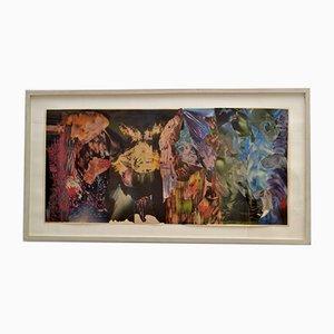 Abstrakte Collage Kunst in verschiedenen Farben von Bill Allan, 1990er