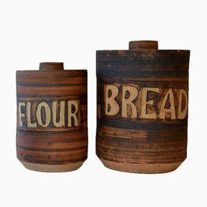 Ceramic Kitchen Containers, 1970s, Set of 4