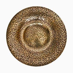 Decorative Bronze Dish with Hand-Beaten Relief from Kopo Metal, 1930s