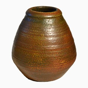 Large Studio Pottery Rust Colors by Mobach, 1960s