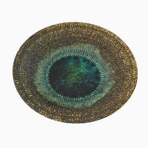 Mid-Century Turquoise Glazed Fruit Bowl by Pieter Groeneveldt, 1960s