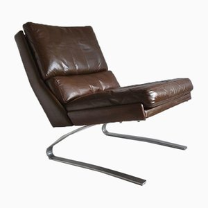 Brown Leather Cantilever Lounge Chair from COR, Germany, 1970s