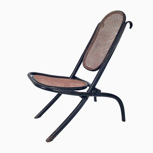 Bentwood and Cane Caminsessel Fireplace Chair No. 1 from Thonet, 1860s