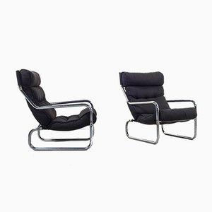 Dänischer Sessel mit Rohrrahmen, 1960er