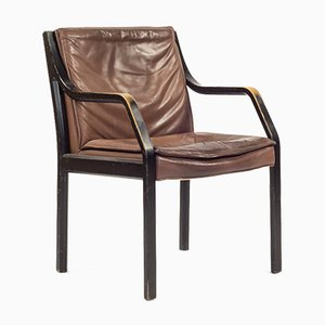 Vintage Model Alpha Art Collection Chair in Cognac Leather from Walter Knoll